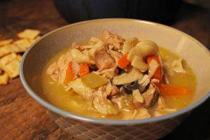 Rotisserie Chicken Soup Close