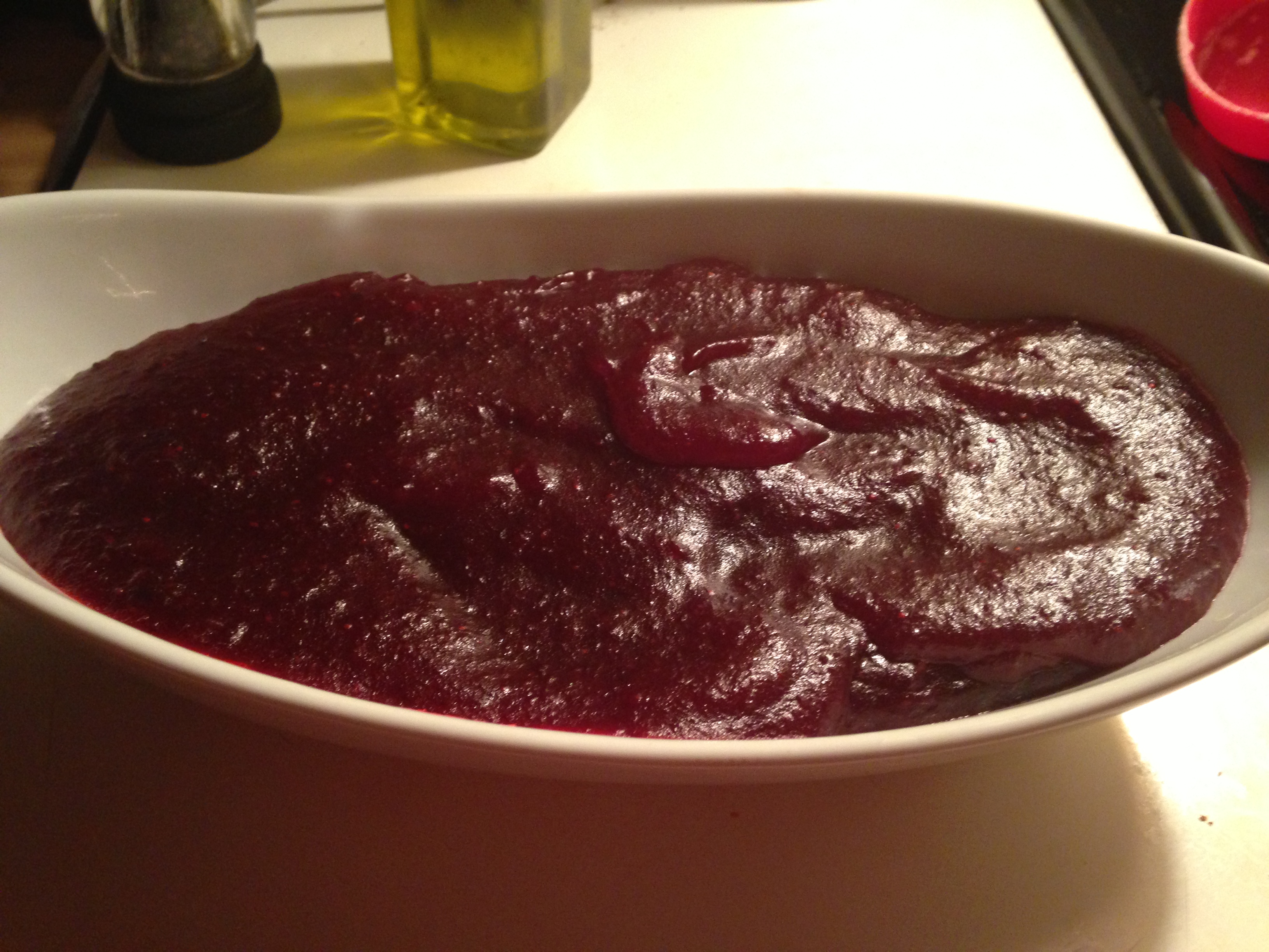 Ginger Orange Cranberry Sauce Puree